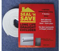 Stormguard Seal N Save EPDM 'P' Section - 5m M15 - White